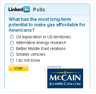 McCain poll on Linked-in