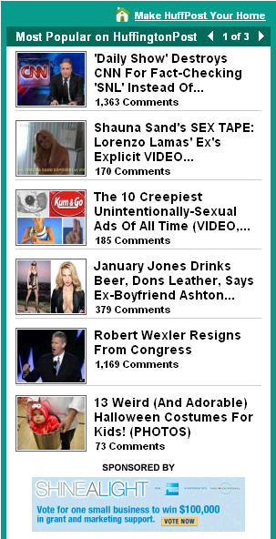 Huffpo most popular 11.15.09